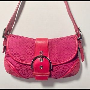 Coach signature hot pink shoulder bag